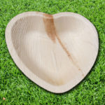 PALM LEAF PLATES 6 inch heart shaped bowl