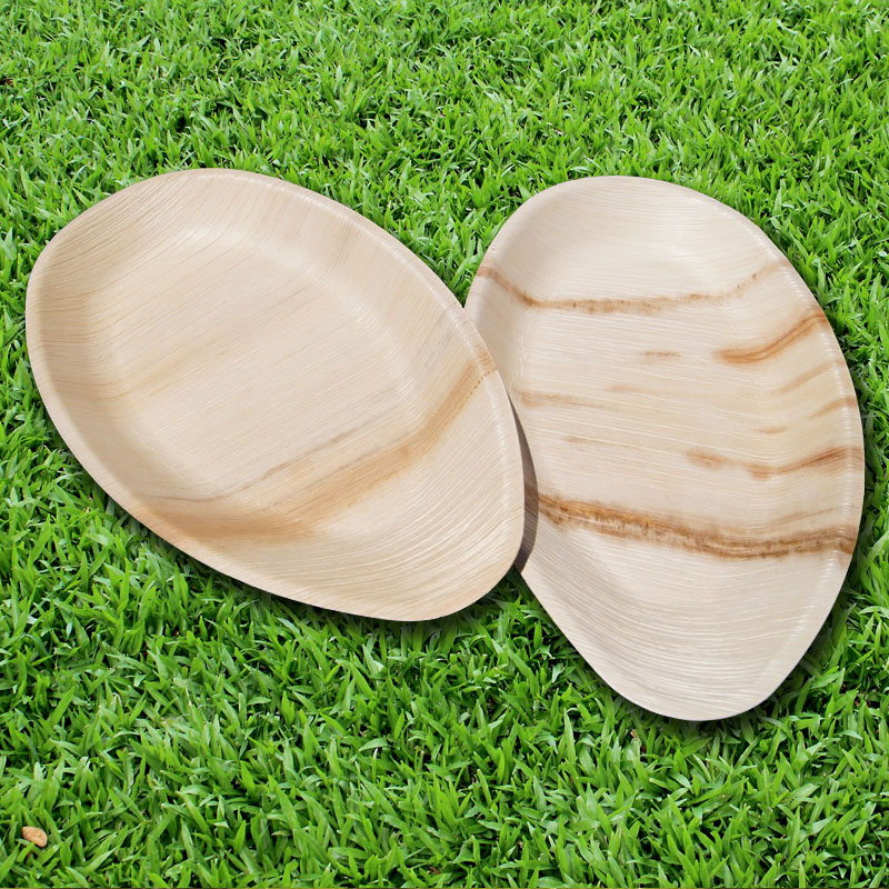 ARECA PALM LEAF PLATES 12x7 inch Oval platter